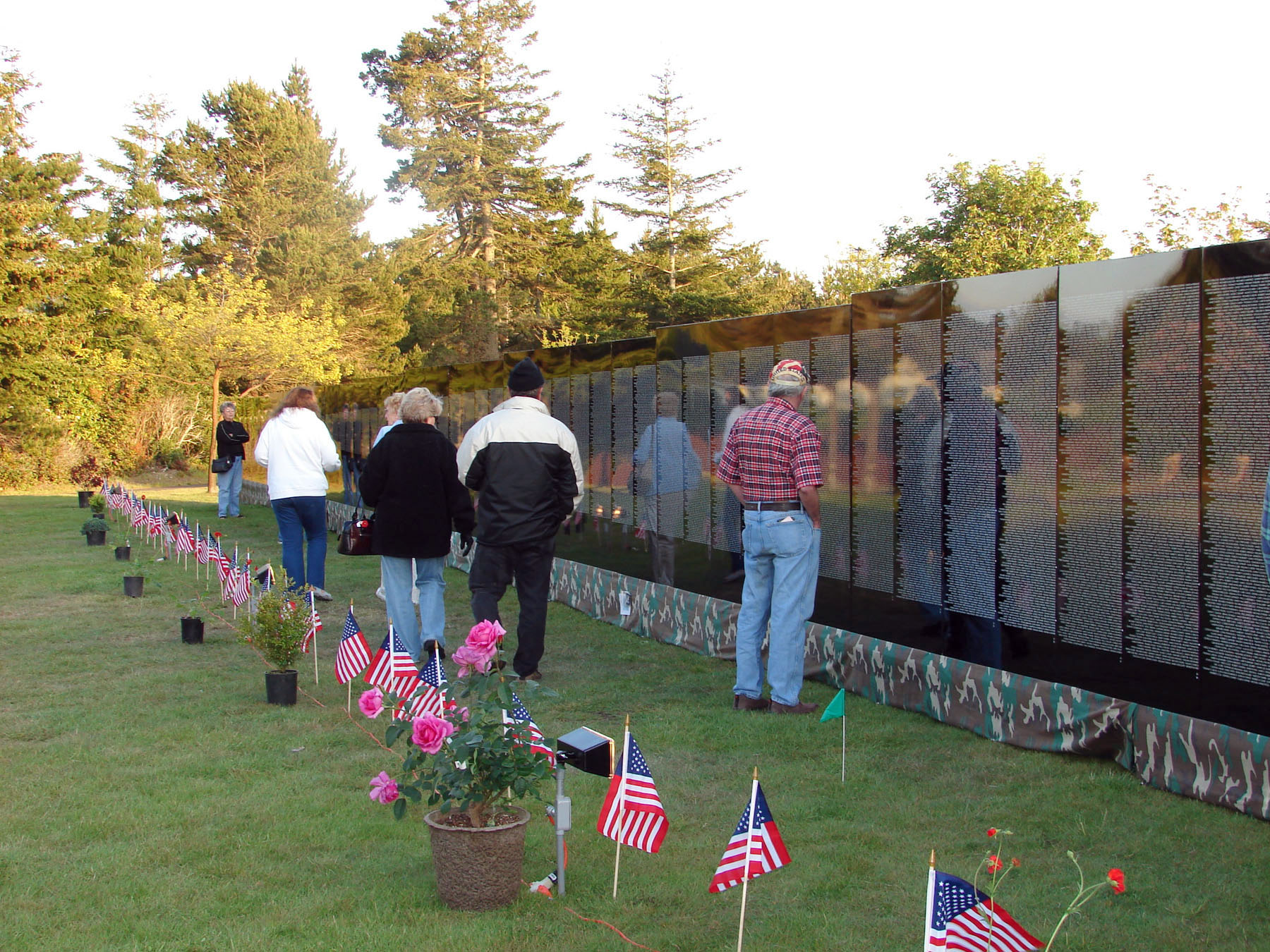 visitors at The Moving Wall